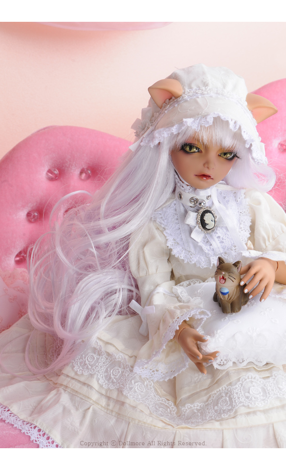 DOLLMORE NEW MSD Slim Cat Choker White