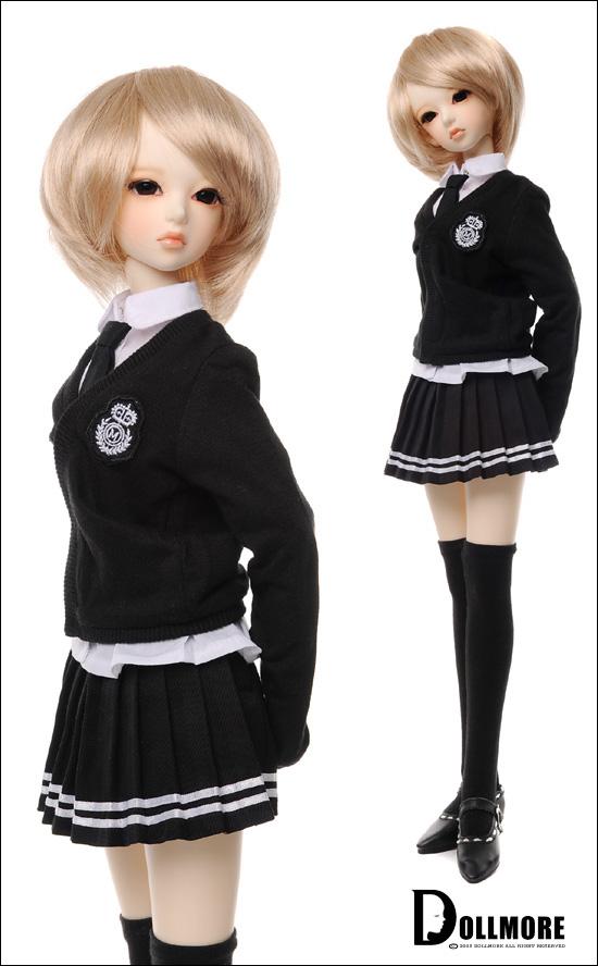 Как сделать для куклы школьную форму 874