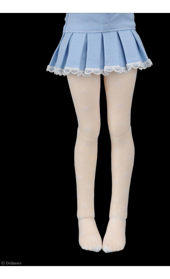 Black Heart Ami Band Stocking Dollmore 1//4BJD 43cm doll stockings MSD