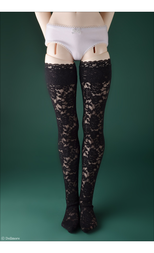 Dollmore Trinity Doll Black - A FOH Lace Band Stockings