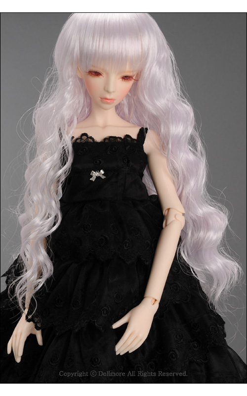 "8-9 SD size /"" Reona Long Wig Dollmore 1//3 BJD dollfie SD wig Black"
