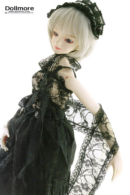 Rallala Dress Black Dollmore 1//3 BJD SD