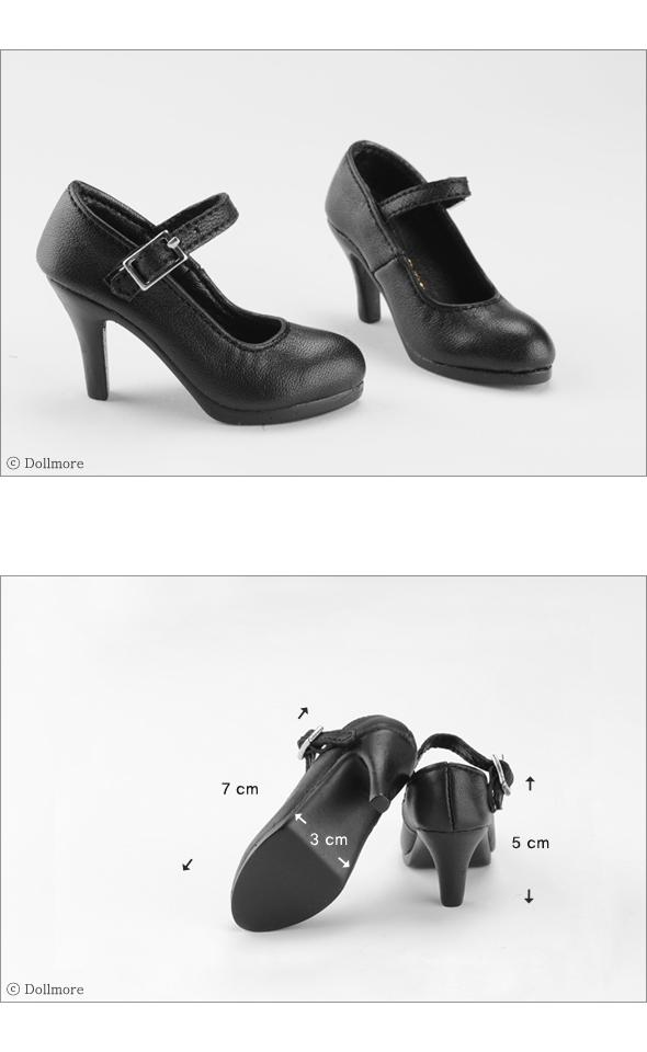 Dollmore 1//3 BJD SD Enamel Black Shoes high heels Basic Shoes