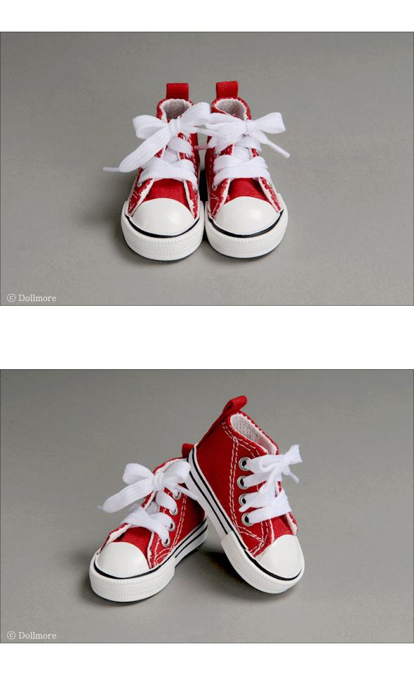 LAST ONE 1//4 BJD shoes MSD Black Dollmore Nika Sneakers