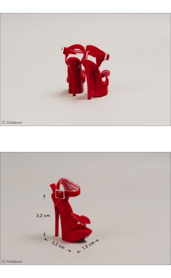"Red Reborn Strab Shoes Dollmore 16/"" fashion doll shoes Fashion doll Size"