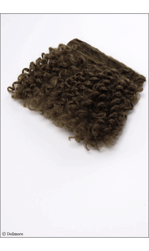 B-type : Brown Mohair wave BJD OOAK Synthetic Mohair  String Hair SM916