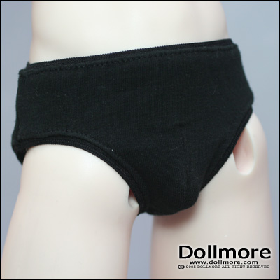 Simple Triangle Boy Panties White 71 cm BJD Underwear Model doll